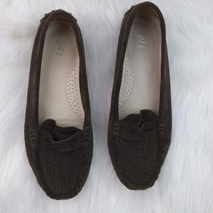 J Jill Perforated Driving Mocassins Loafers